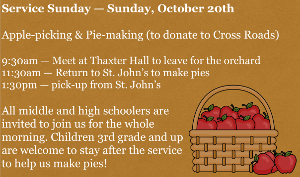 Apple-Picking Service Sunday